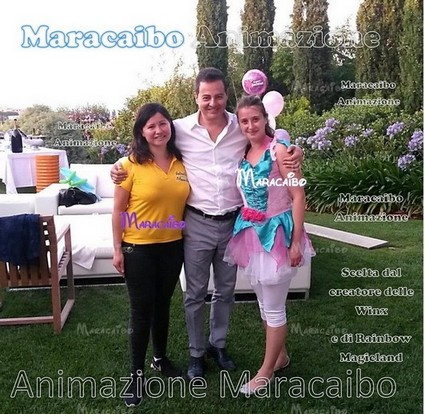 Agenzia leader organizzazione Maracaibo Eventi aziendali festa Straffi creatore delle Winx Rainbow